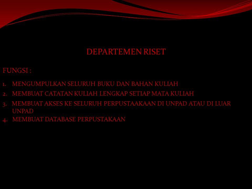 DEPARTEMEN MEDIA DAN INFORMASI FUNGSI : 1.MENGURUS MAJALAH DINDING HIMPUNAN 2.