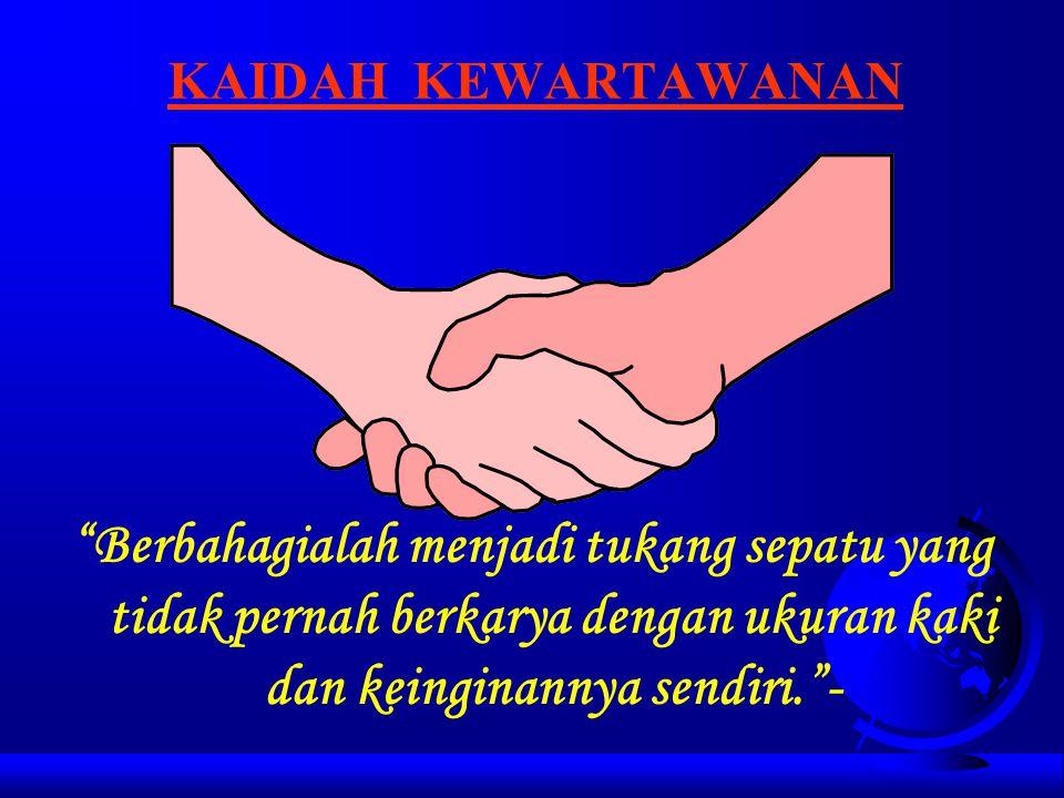 JAGAT WARTAWAN Oleh Priyambodo RH