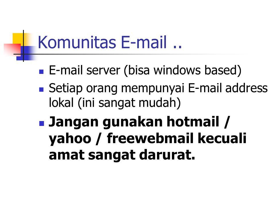 Komunitas E-mail..