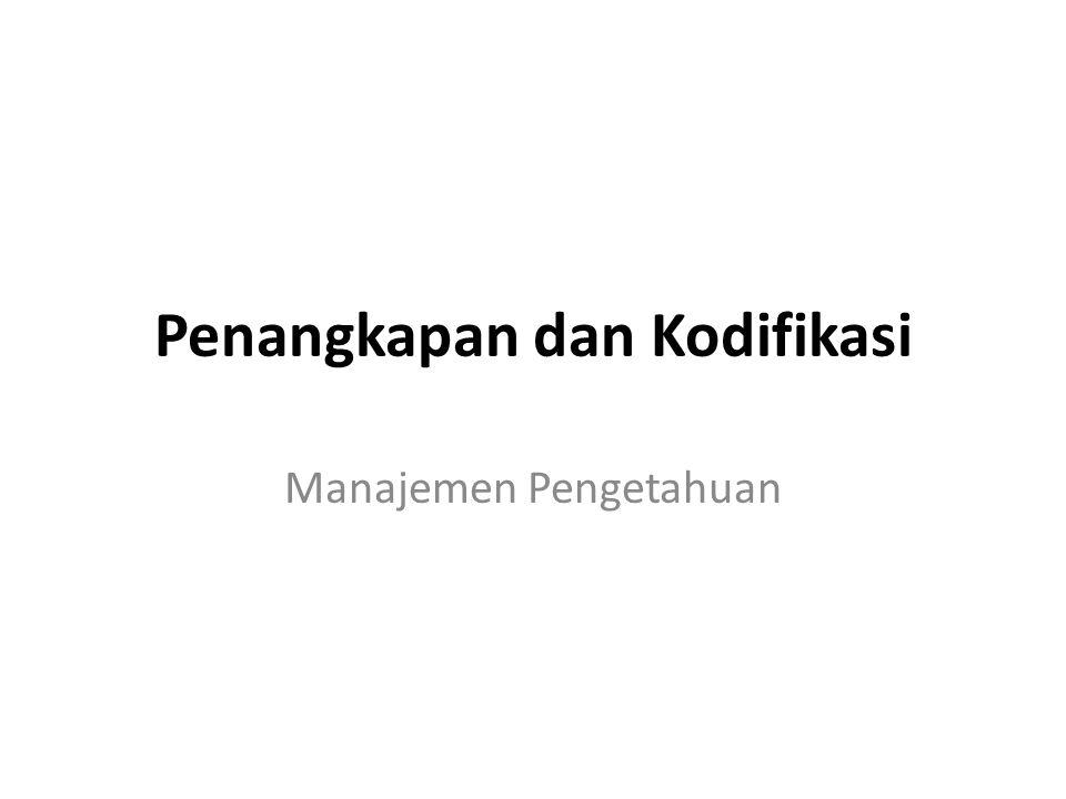 Penangkapan dan Kodifikasi Manajemen Pengetahuan