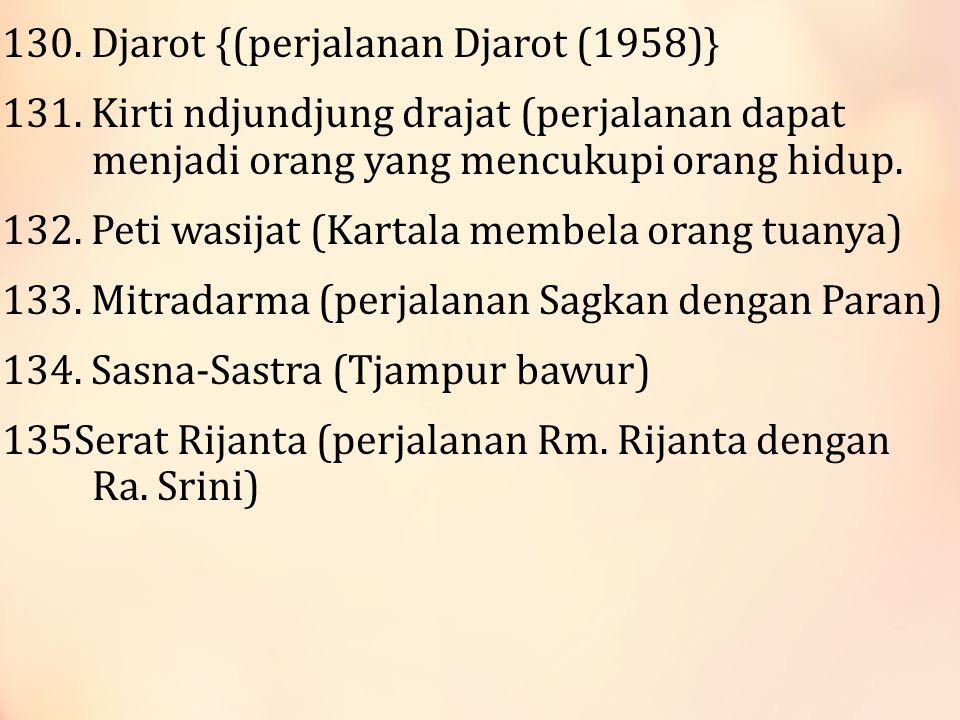 130.Djarot {(perjalanan Djarot (1958)} 131.