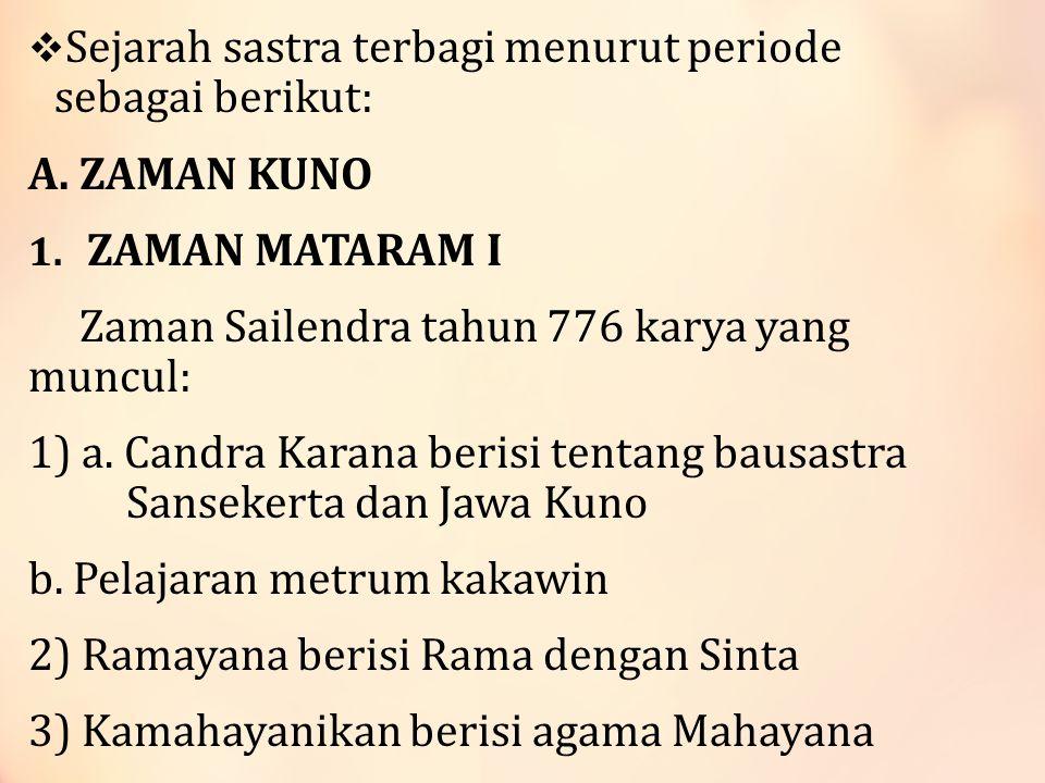 VII.KARTASURA 49. Menak- Ki Carik Narawita (orang Agung Menak dengan Prabu Nursewan) 50.