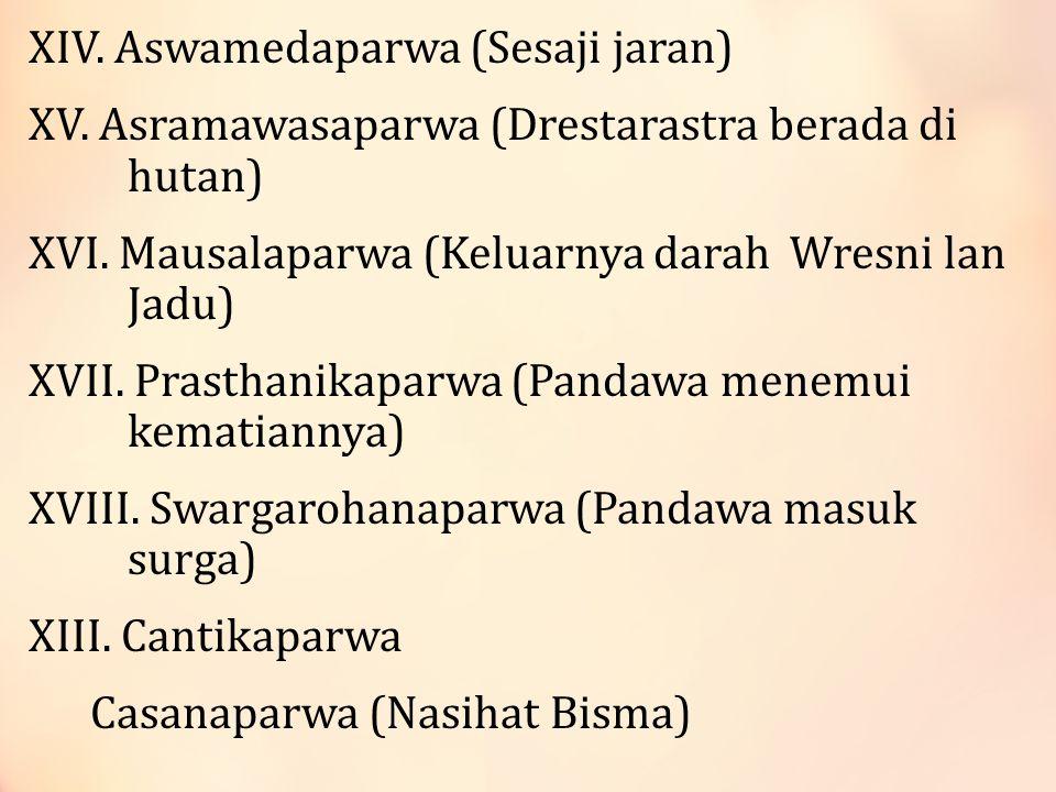 8.Kuncarakarna 9. Arjunawiwaha-Mpu Kanwa (Arjuna bertapa) 3.