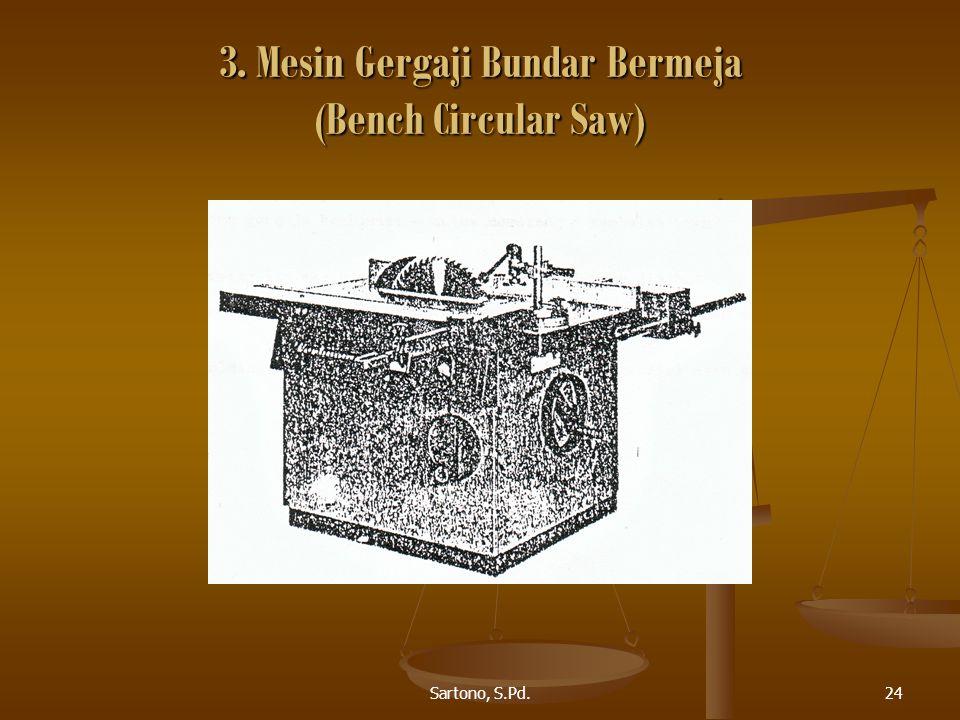 Sartono, S.Pd.24 3. Mesin Gergaji Bundar Bermeja (Bench Circular Saw)