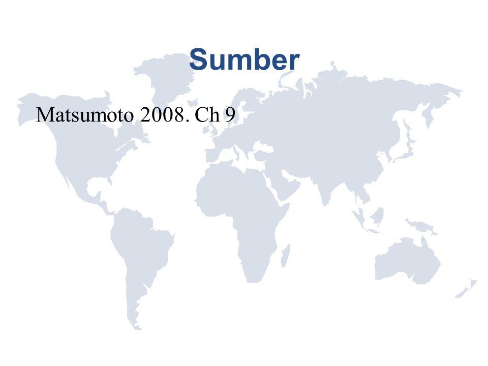 Sumber Matsumoto 2008. Ch 9