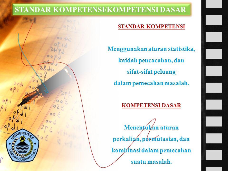 STANDAR KOMPETENSI/KOMPETENSI DASAR STANDAR KOMPETENSI/KOMPETENSI DASAR