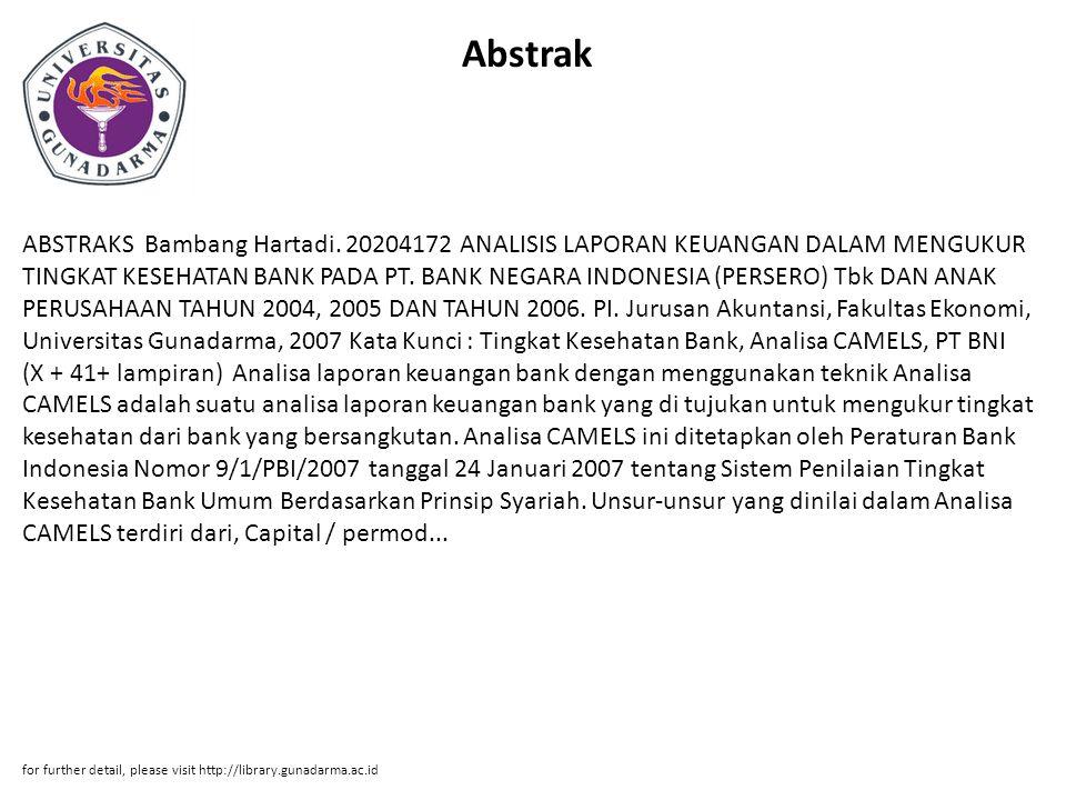 Abstrak ABSTRAKS Bambang Hartadi.