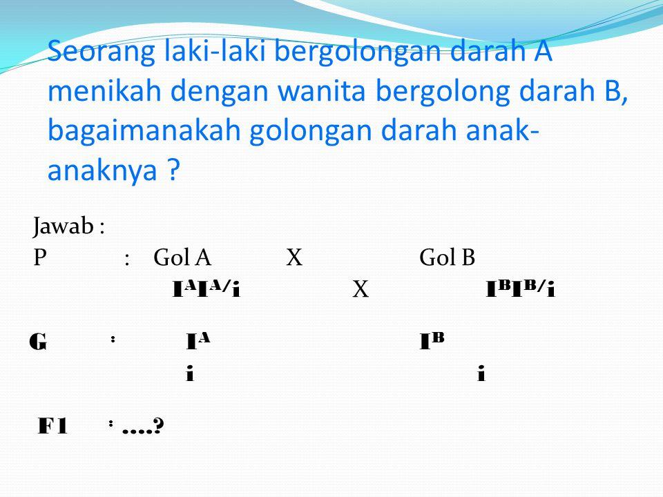 Sifat keturunan pada golongan darah dibawa oleh protein Isoaglutinin ( I ) Orang yang bergolongan darah A, B, O dan AB mempunyai Isoaglutinin ( I ) dengan kode gen A:I A I A dan I A i B:I B I B dan I B i O:ii AB:I A I B