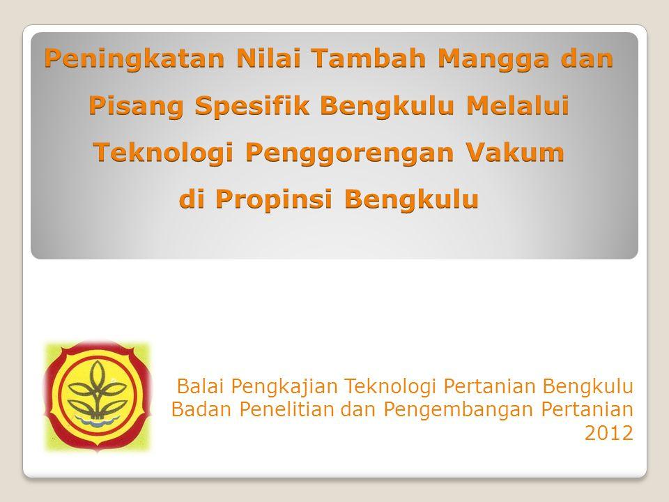 Balai Pengkajian Teknologi Pertanian Bengkulu Badan Penelitian dan Pengembangan Pertanian 2012