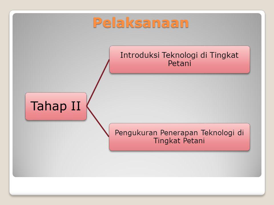Pelaksanaan Tahap II Introduksi Teknologi di Tingkat Petani Pengukuran Penerapan Teknologi di Tingkat Petani