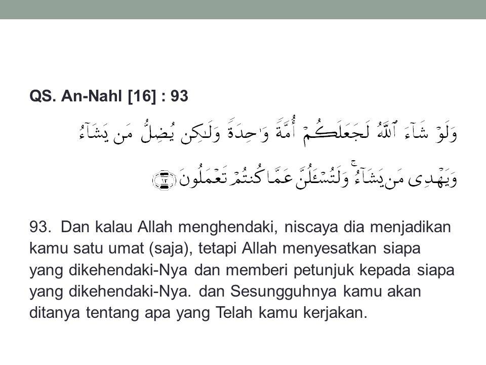 QS.An-Nahl [16] : 93 93.