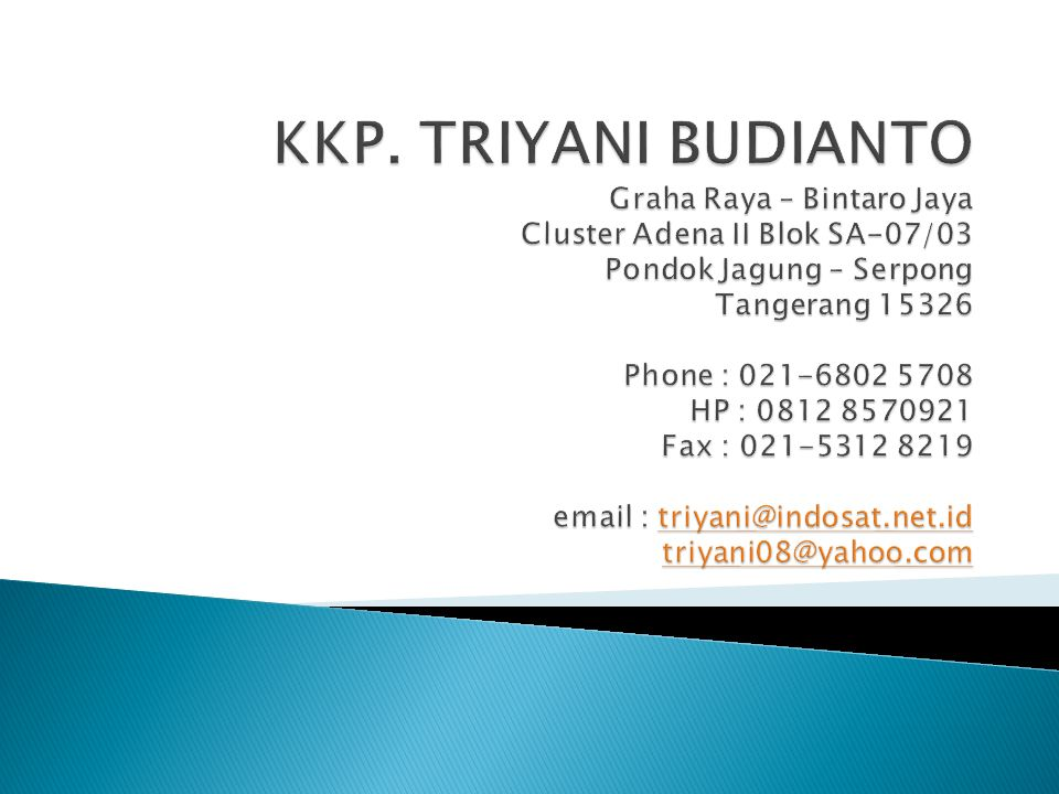  KKP Triyani Budianto merupakan konsultan pajak terdaftar yang didirikan oleh ahli yang kompeten di bidangnya  Berkomitment tinggi untuk membantu klien dalam menjalankan hak dan memenuhi kewajiban perpajakan sesuai dengan Peraturan perundang-undangan yang berlaku