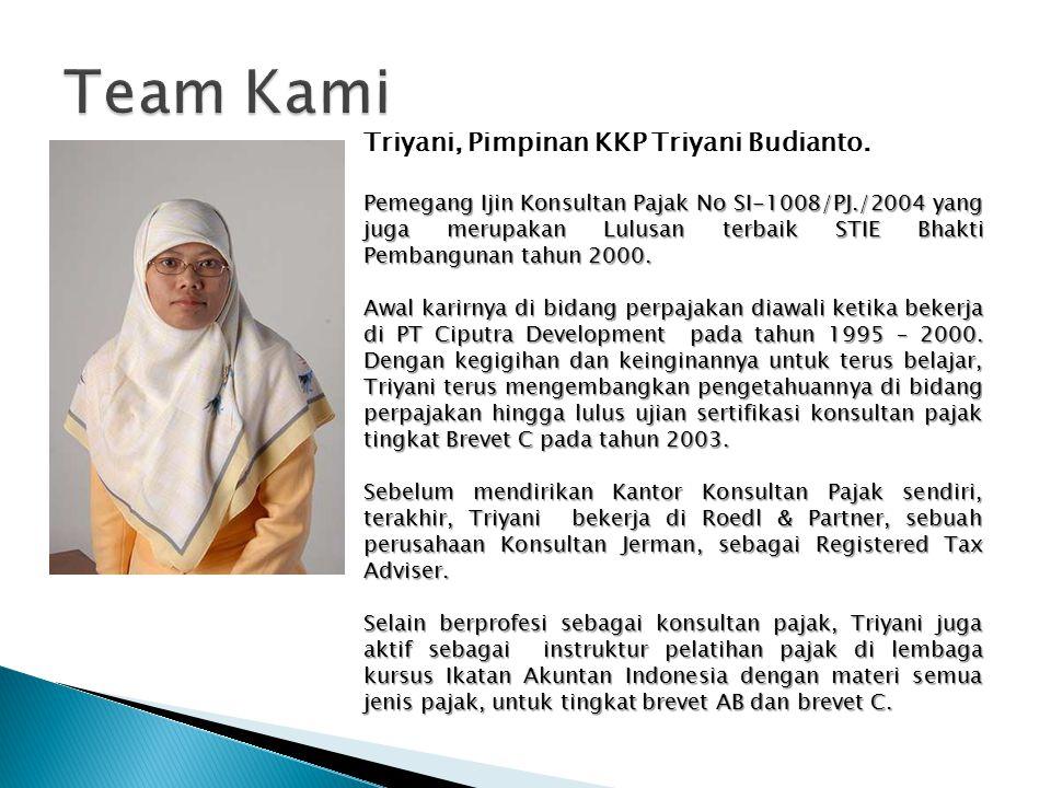 Triyani, Pimpinan KKP Triyani Budianto.