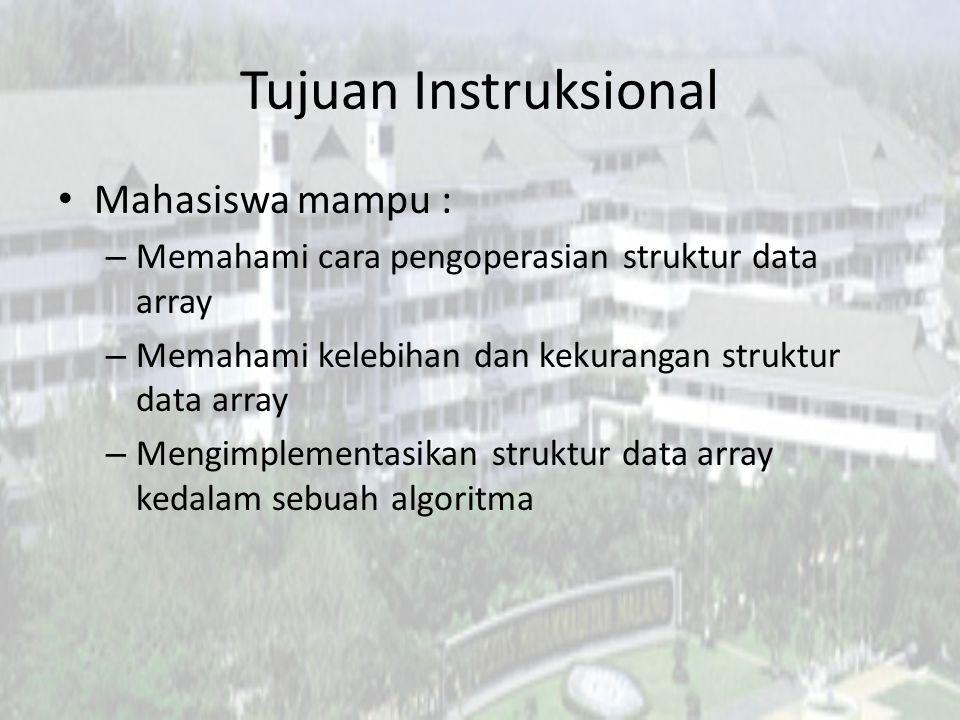 Topik Bentuk dasar array Deklarasi array Inisialisasi array Pengaksesan element array
