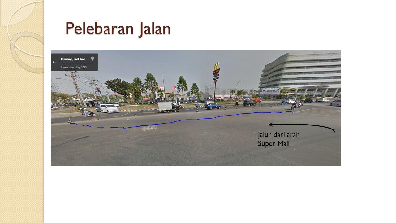 Jalur dari arah Super Mall Pelebaran Jalan