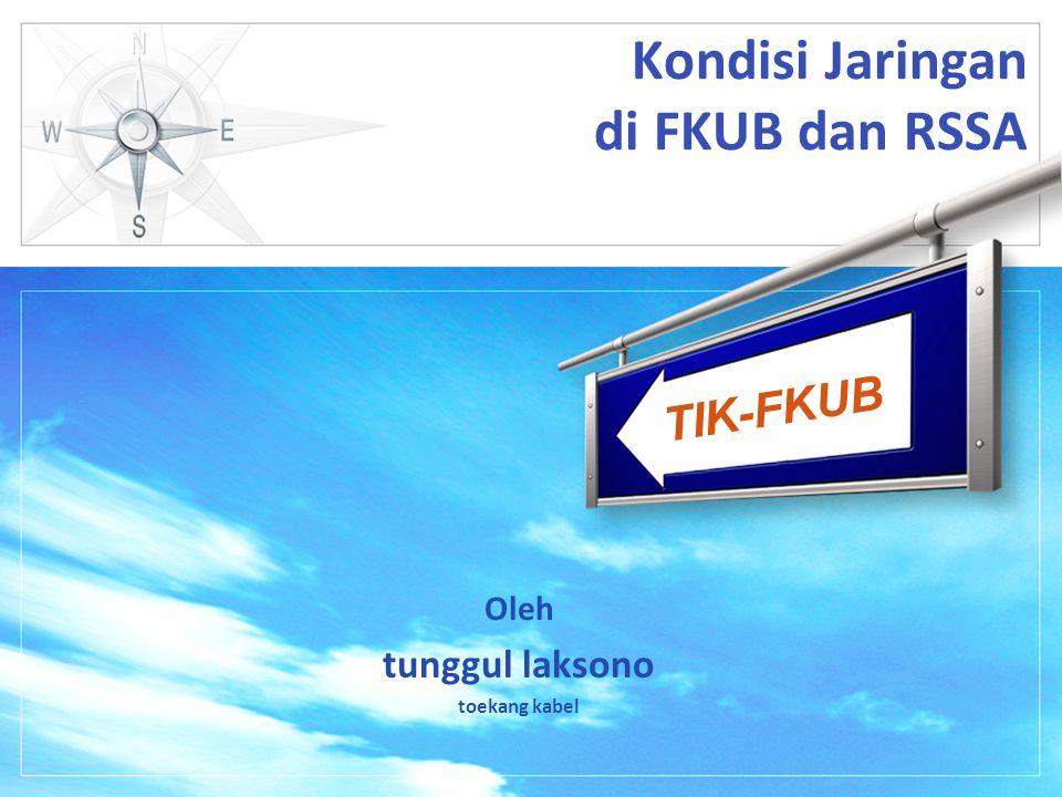 TIK-FKUB Kondisi Sekarang  Jaringan sudah menjadi semakin besar dan semakin komplek  Terbagi menjadi 2 lokasi yang berjauhan FKUB dan RSSA  Teknologi yang dipakai Hotspot, Wireless, VOIP  User hotspot di FKUB masih terpisah dengan user di FKUB