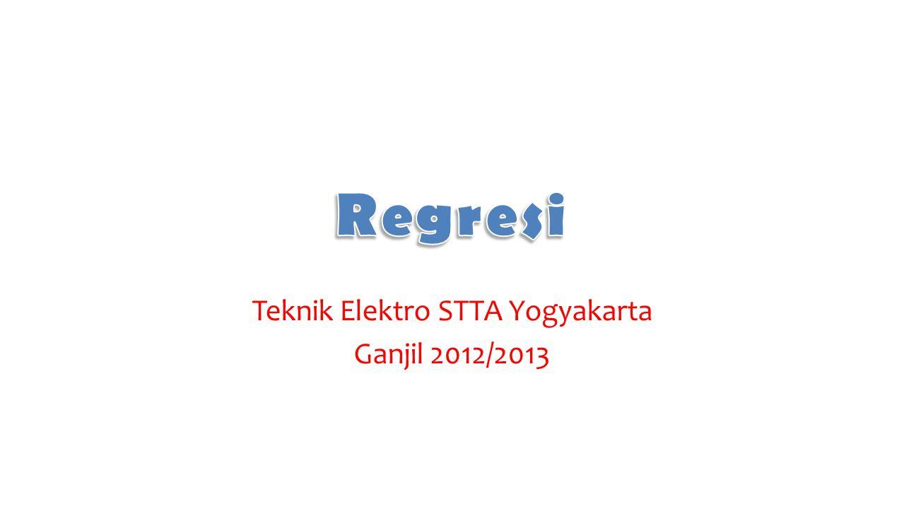 Teknik Elektro STTA Yogyakarta Ganjil 2012/2013