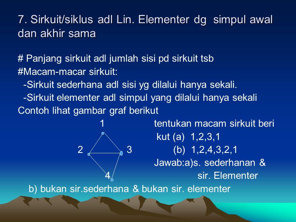 7.Sirkuit/siklus adl Lin.