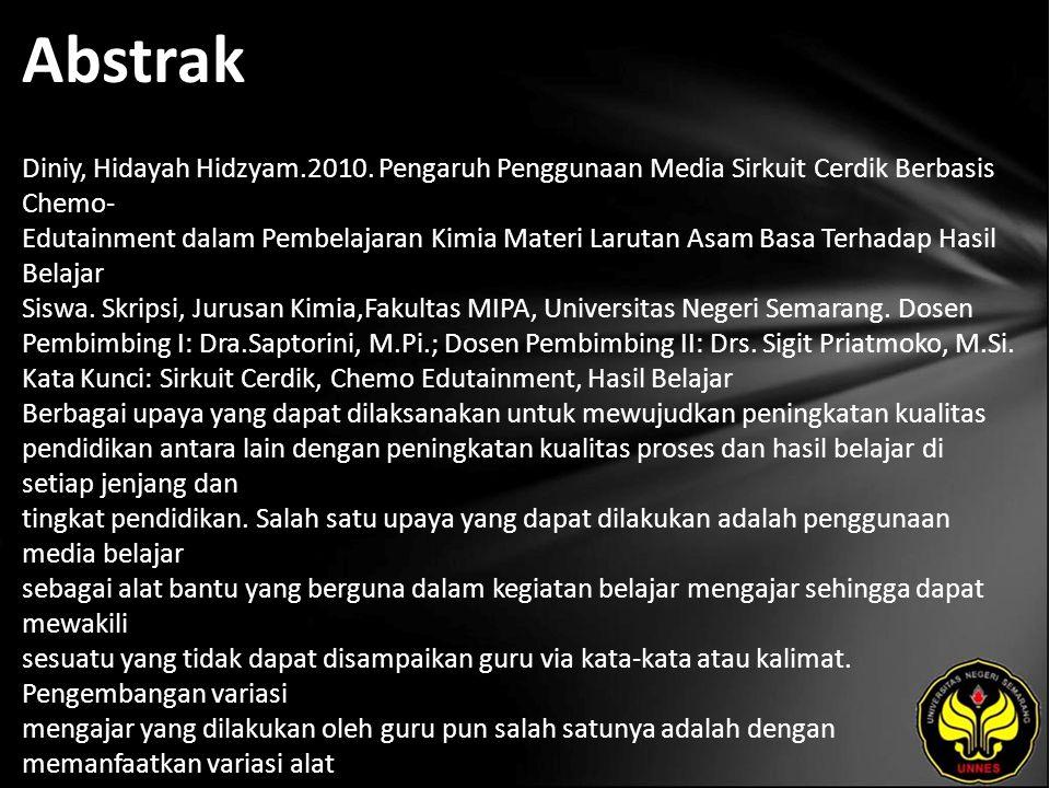 Abstrak Diniy, Hidayah Hidzyam.2010.