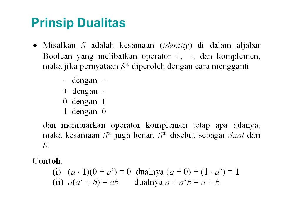 Prinsip Dualitas