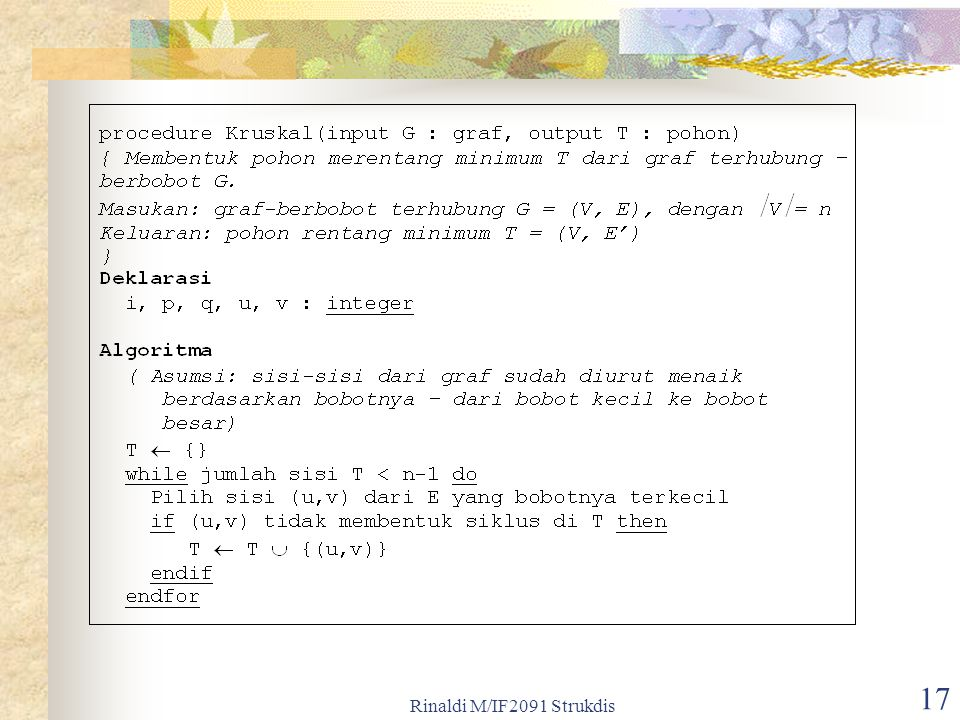 Rinaldi M/IF2091 Strukdis 17