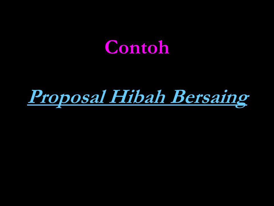 Contoh Proposal Hibah Bersaing Proposal Hibah Bersaing