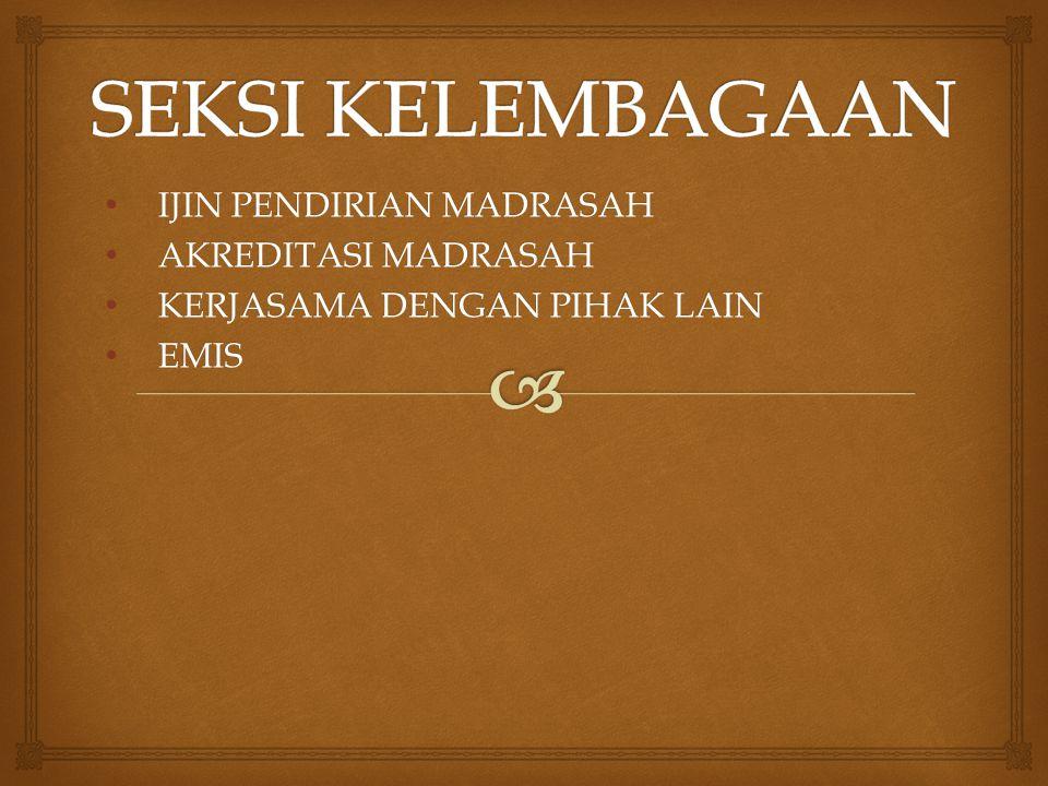  Petunjuk Teknis Pendirian Madrasah yang diselenggarakanMasyarakat Oleh: Drs.
