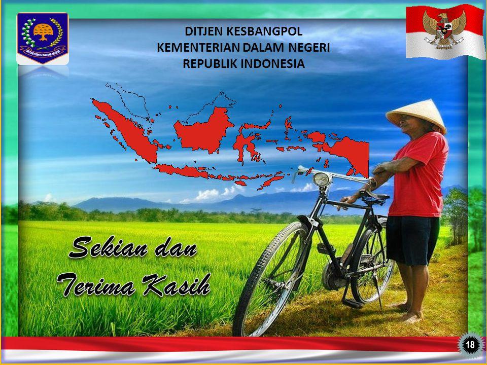 DITJEN KESBANGPOL KEMENTERIAN DALAM NEGERI REPUBLIK INDONESIA 1818