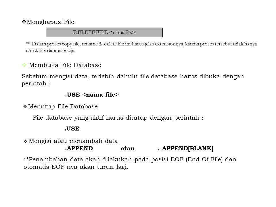 Report Digunakan untuk menampilkan data dilayar monitor dan mencetak data ke printer.