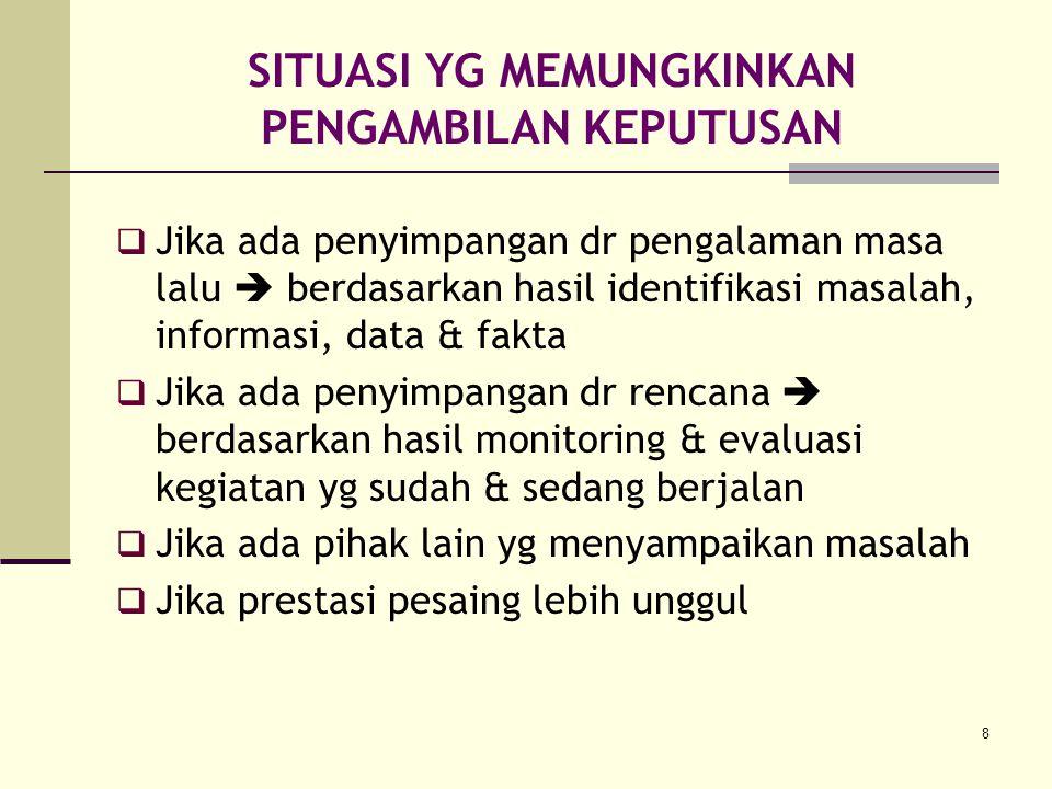 9 ALAT PENGAMBILAN KEPUTUSAN KUALITATIF 1.