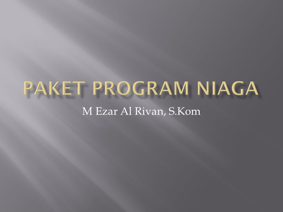 M Ezar Al Rivan, S.Kom