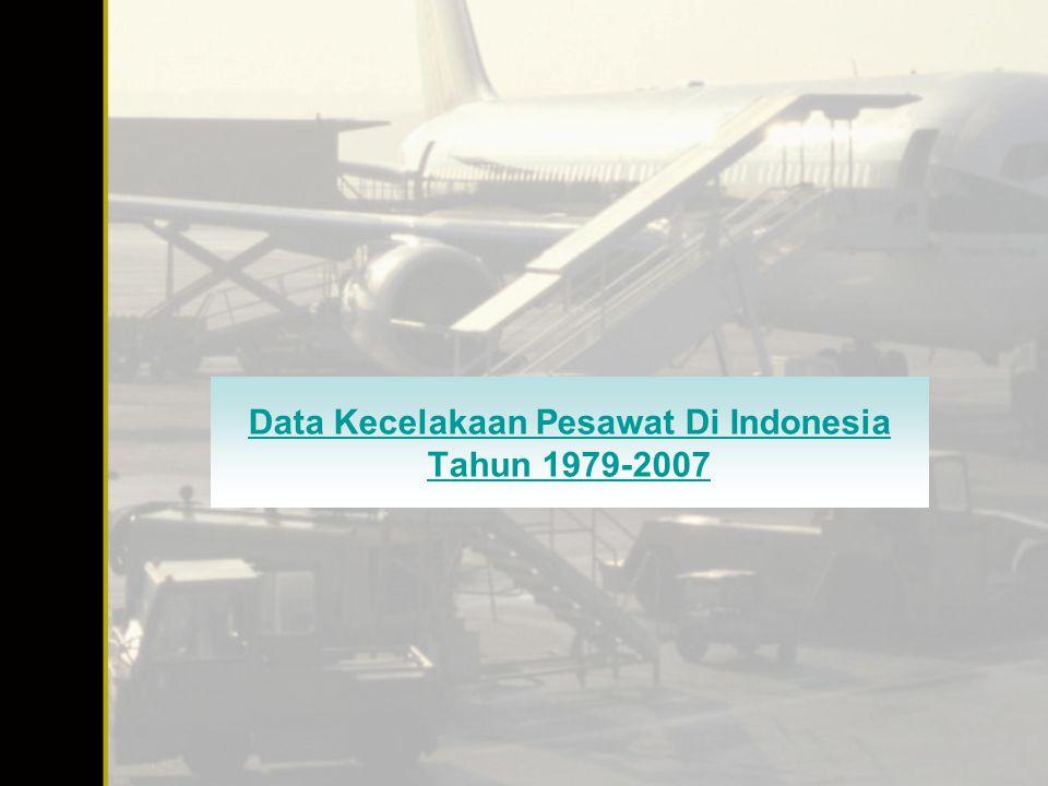 Data Kecelakaan Pesawat Di Indonesia Tahun 1979-2007