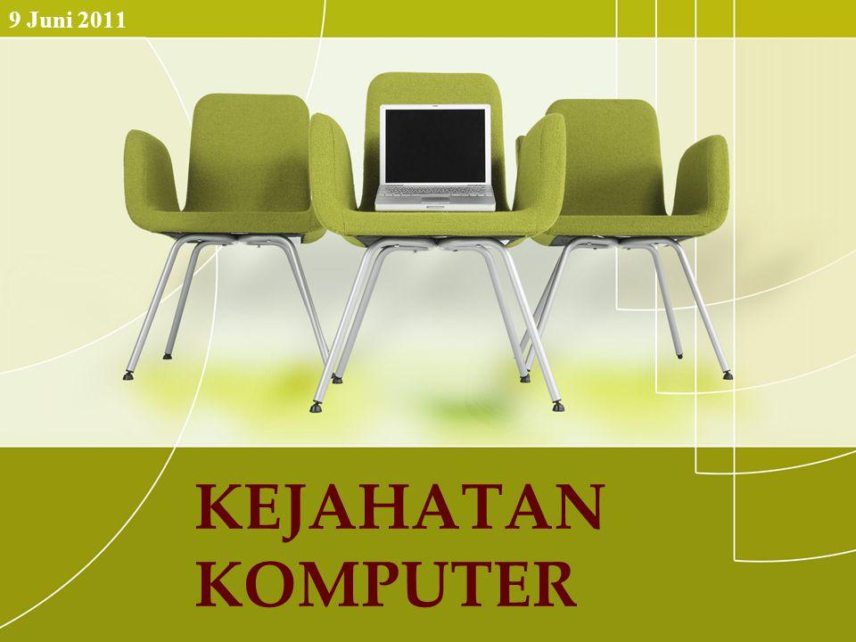 Definisi ini diberikan oleh departemen kehakiman Amerika, bahwa penyalahgunaan komputer dibagi menjadi dua bidang utama.