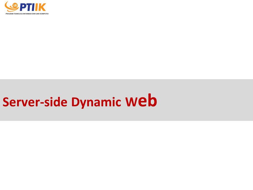 Server-side Dynamic W eb