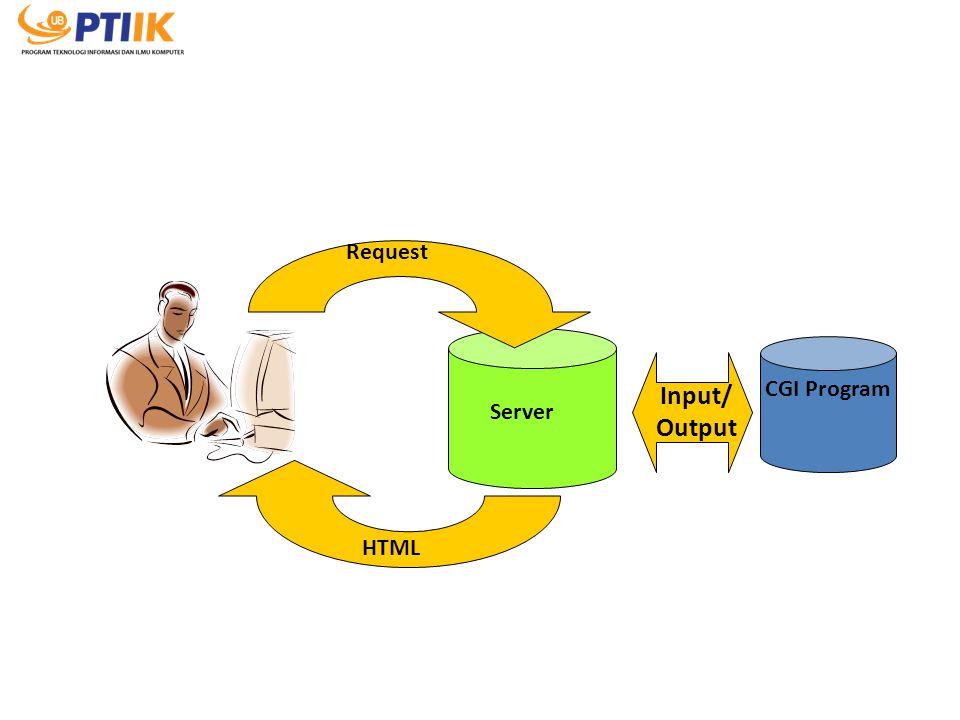 Server CGI Program Input/ Output Request HTML