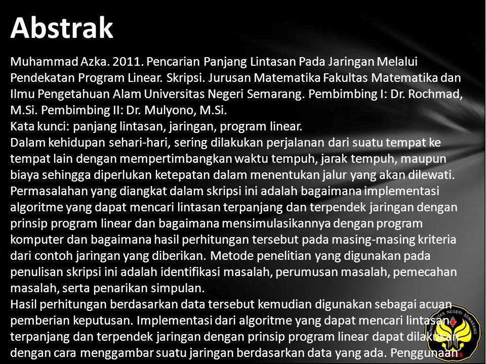 Abstrak Muhammad Azka. 2011.