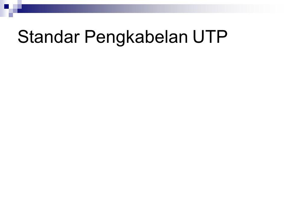 Standar Pengkabelan UTP