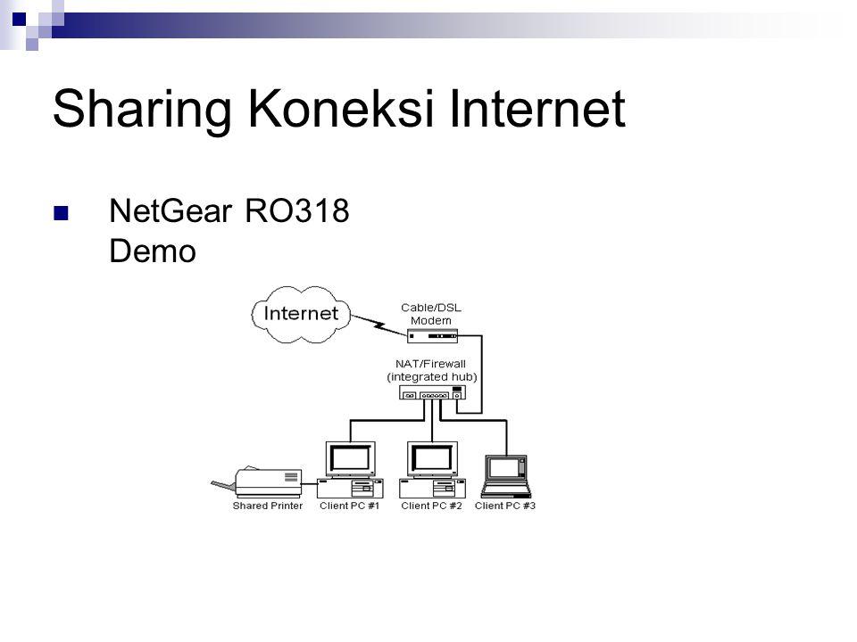Sharing Koneksi Internet NetGear RO318 Demo