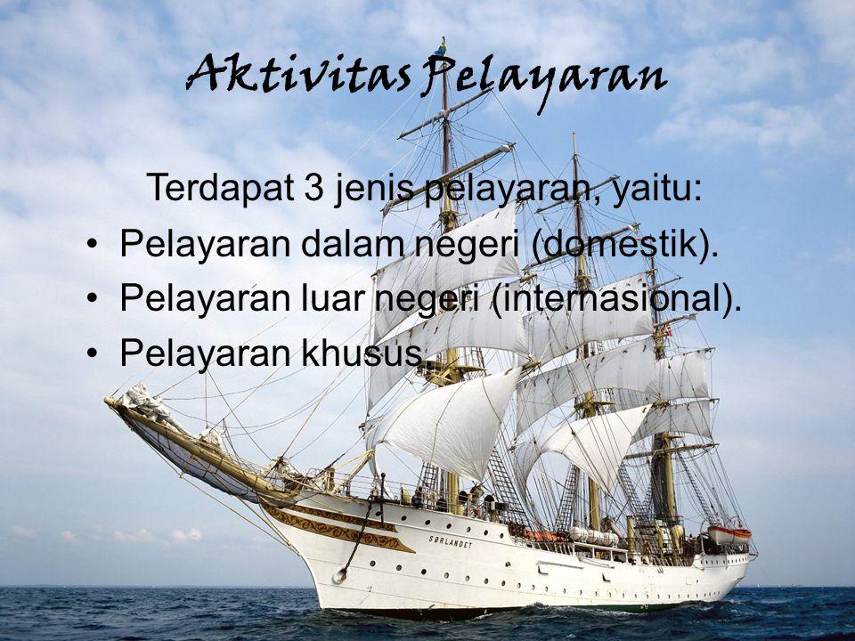 Aktivitas Perdagangan  Komoditas ekspor dari pelabuhan Banjarmasin untuk perdagangan antarpulau antara lain batubara, rotan, karet, kayu, damar, lilin, getah perca, lada, kopra, sarang burung, barang-barang anyaman,dll.
