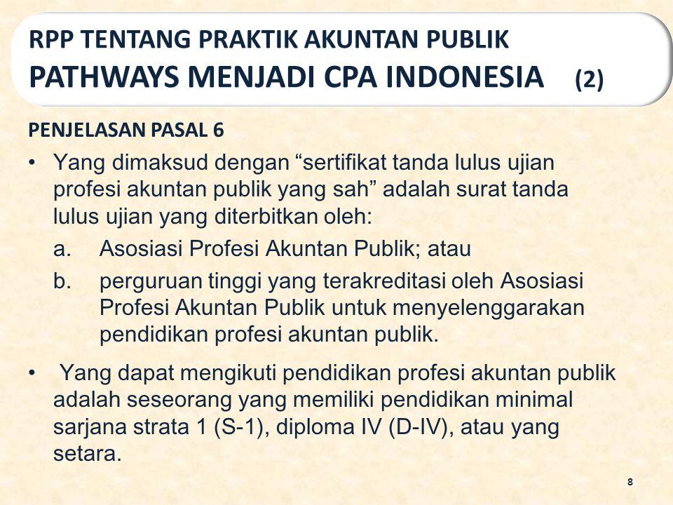 PASAL 44 ayat (1) UU AKUNTAN PUBLIK Asosiasi Profesi Akuntan Publik sebagaimana dimaksud dalam Pasal 43 ayat (2) berwenang: a.menyusun dan menetapkan SPAP; b.menyelenggarakan ujian profesi akuntan publik; c.menyelenggarakan pendidikan profesional berkelanjutan; dan d.Melakukan reviu mutu bagi anggotanya.