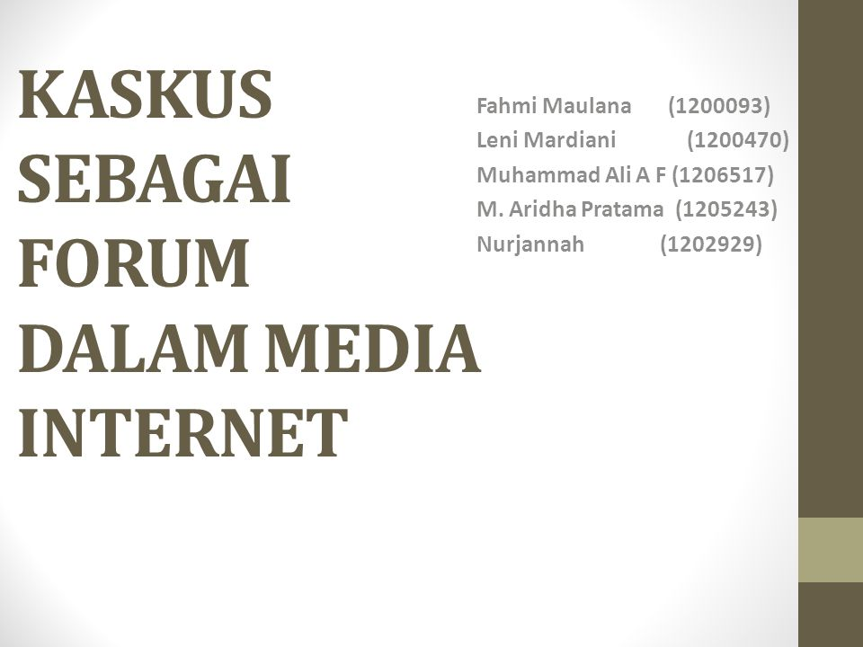 Pengertian Forum Forum adalah sebuah sarana komunikasi untuk sebuah komunitas.