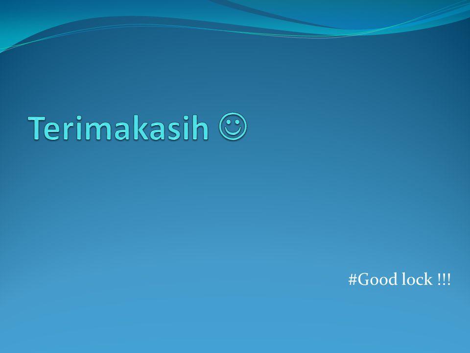 #Good lock !!!
