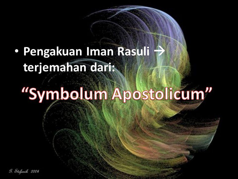 Pengakuan Iman Rasuli  terjemahan dari: