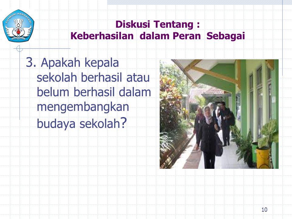 Diskusi Tentang : Keberhasilan dalam Peran Sebagai 3.