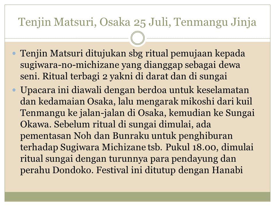 Matsuri lain Shainryoko - darmawisata karyawan Oseibo – Ochugen – pemberian hadiah Shasho - upacara kematian pemimpin perusahaan Hatsumode – hari pertama kerja Setsubunsuinasai – mengusir setan Anzeniraisai – memohon keselamatan Chinkasai – Mengendalikan api Oharai – Mengusir roh jahat