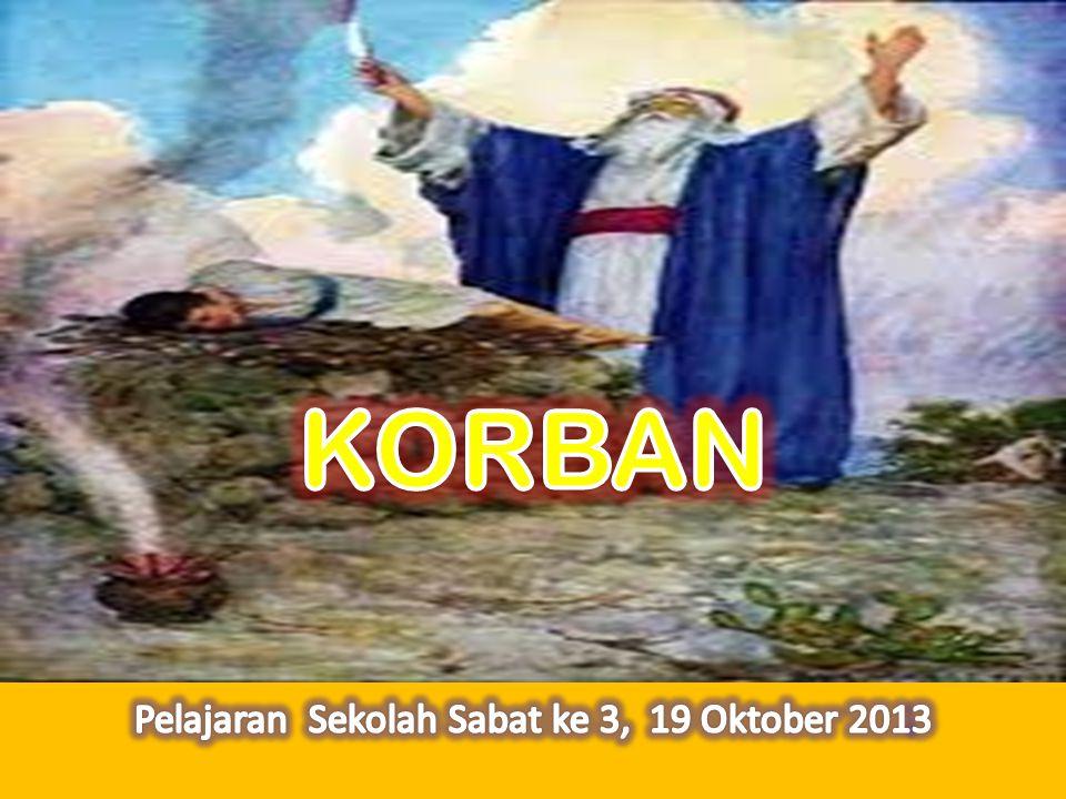Allah menguji Abraham dan memerintahkan kepadanya agar mempersembahkan anaknya Isak (Kejadian 22:1) Kambing dipersembahkan sebagai pengganti Isak (Kejadian 23:13).