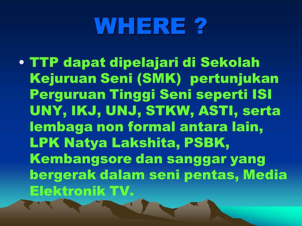 WHERE .