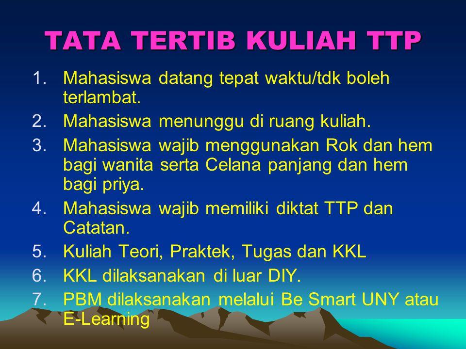 When .TTP di pelajari sejak usia dini Pra TK, TK, SD, SMP, SMK, Perguruan Tinggi.