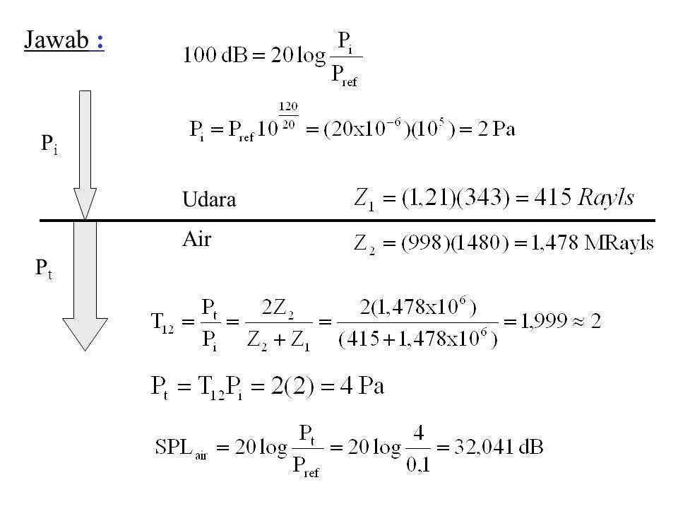  1 =1180 kg/m 3 c 1 = 2670 m/s  2 = 7800 kg/m 3 c 2 = 5850 m/s 20 o 11 o 48,6 o  3 =998 kg/m 3 c 3 = 1481 m/s Z 1 = 3,15 MRayl Z 2 = 45,6 MRayl Z 3 = 1,48 MRayl