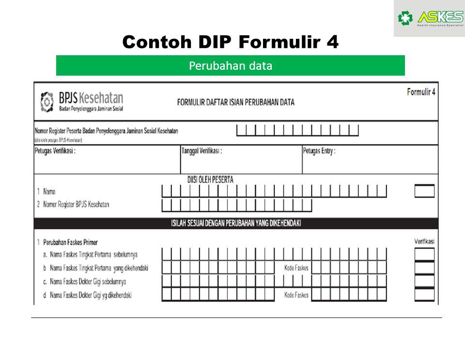 Contoh DIP Formulir 4 Perubahan data